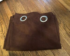 Chocolate Brown Suede Curtains (2 Panels)
