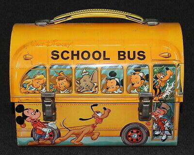 Disney 1961 Lunch Box Aladdin Industries Mickey Mouse Jiminy Pinocchio HighGrade