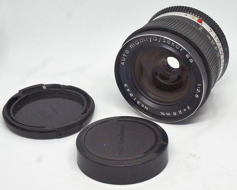 Wide LENS For SLR Camera With Mamiya ES Mount MAMIYA SEKOR 2.8-28 VG 0030  - $45.00