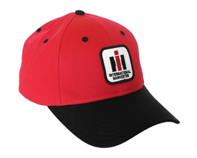 International Harvester Tractor Solid Red and Black Hat Cap Hat Gift IH