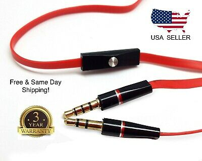 Replacement 3.5mm Audio Cable with Mic Aux Cord for Beats by Dr Dre Headset New ()