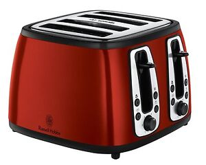 Russell Hobbs 19160 Heritage 4-Slice Toaster - Metallic Red 2 Year Warranty NEW