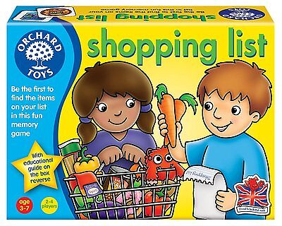 Orchard Toys Shopping List Toddler Kids Education Memory Game Gift Toy