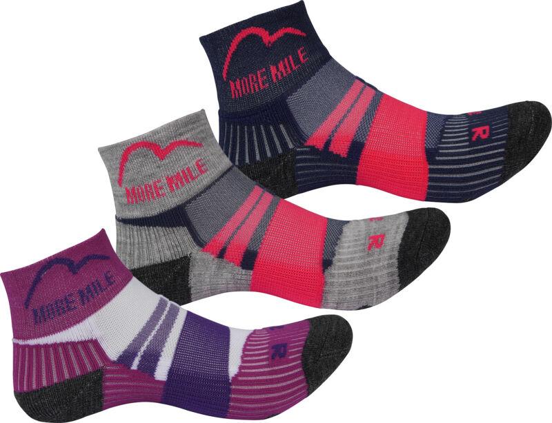 3 Pack More Mile Junior Running Socks Kids Boys Girls Cushioned Sports Sock