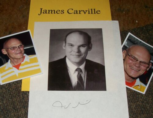 JAMES CARVILLE Autographed Photo & Photos- Collectible