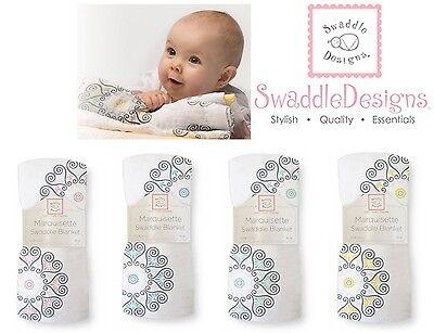 SwaddleDesigns MEDALLIONS Marquisette Swaddle Blanket softer
