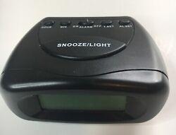 Vintage Mini Travel Alarm Clock Battery operated wth Snooze & Light