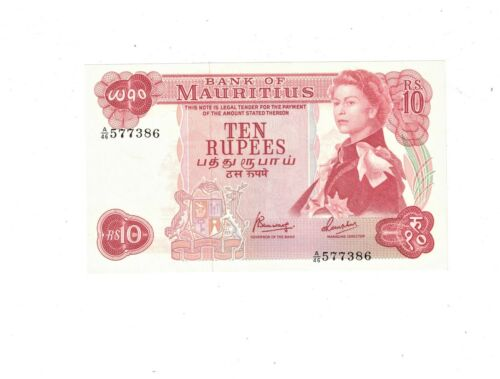 Mauritius 1967 10 Rupees  AU+ PB1
