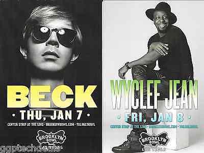 Original BECK Wyclef Jean  Concert Handbill Mini Poster Las Vegas