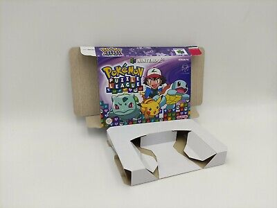 Pokemon Puzzle League - box reproduction with insert - N64. HQ !