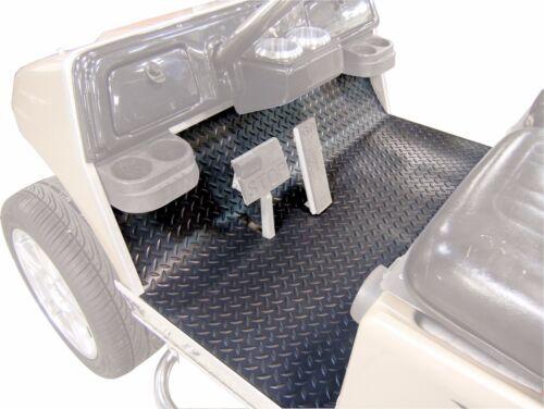 EZGO TXT Golf Cart Black Rubber Diamond Plate Floor Mat Fits 2001.5 to 2009.5