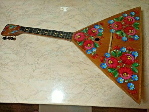 Balalaika Folk instrument 3-string USSR Soviet Balalaika Vintage Petrakovka