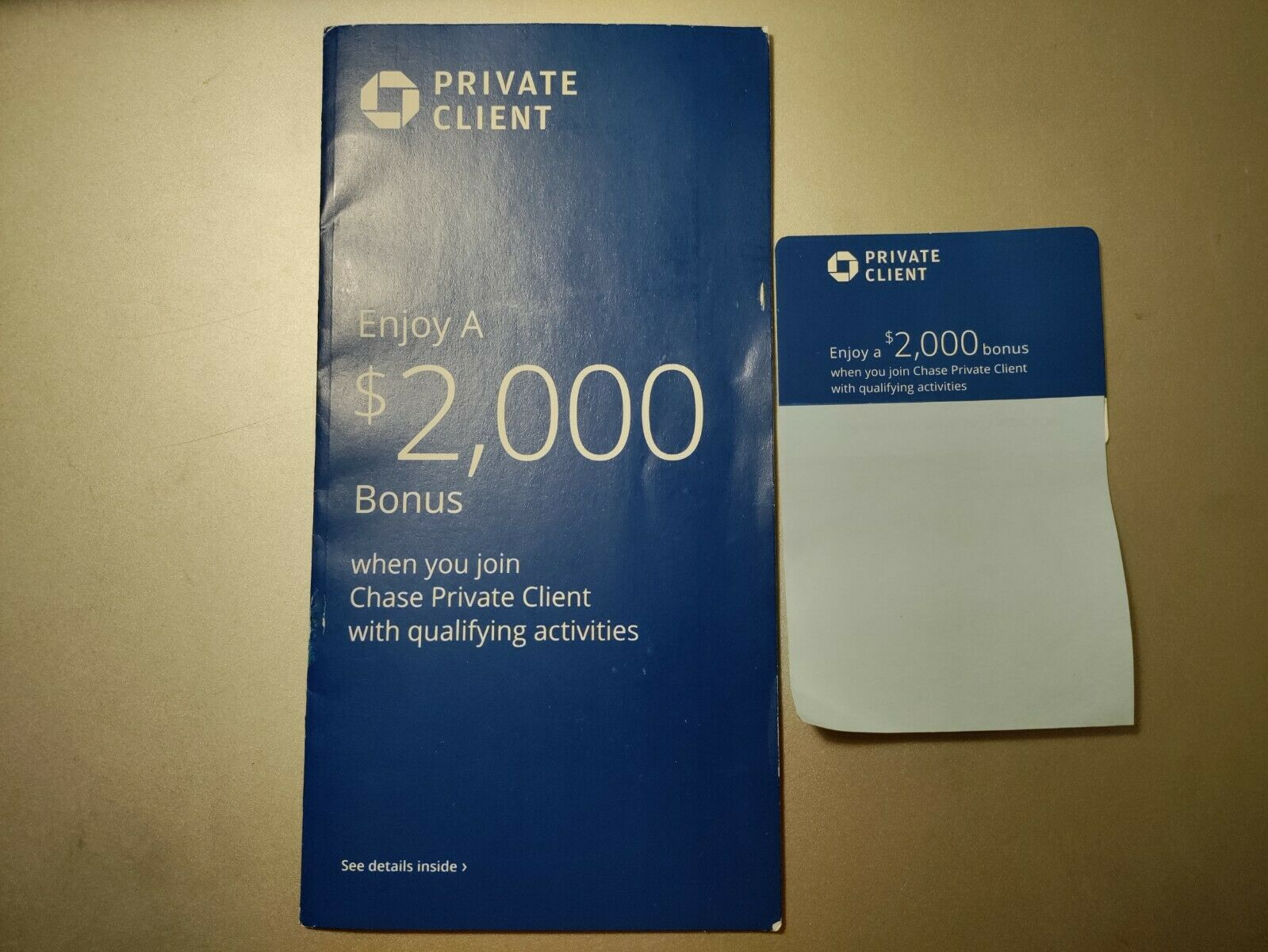 Chase Private Client Bank Coupon 2000 Bonus W/ Qualifying Activities EXP 10/18 - $50.00