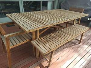 (SOLD) Wooden Outdoor Dining Set