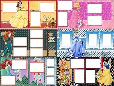 28 DISNEY Princesses Digital Scrapbooking Quick Pages