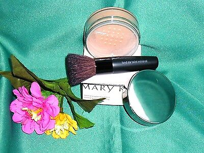 Bronze Loose Powder (Mary Kay Mineral Powder Loose * Ivory Beige Bronze Translucent Brush )