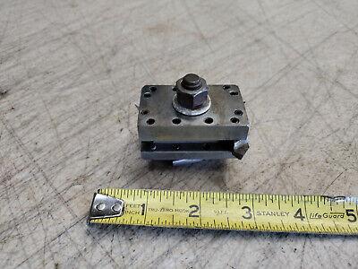 Vintage Craftsman 109 6 Lathe Quick Change .33 Tool Bit Holder No Mfg. Mark