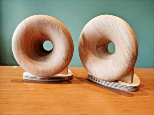 Pair of wooden horn for 1 inch compression driver KIT without a finish