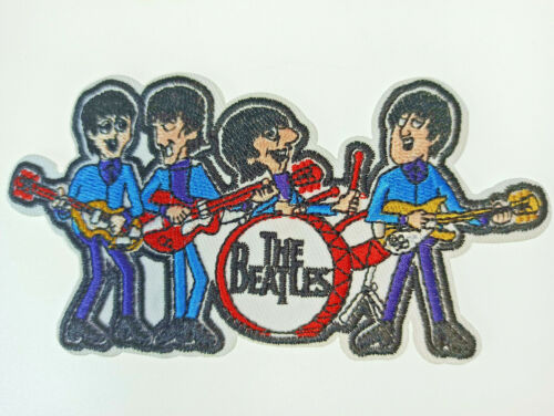 """The BEATLES BAND Embroidered Cloth Patch Badge Iron Sew On Applique 5x2.5"""" NEW"""