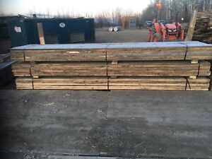 Used plained 2x6 boards. Lumber