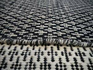 New Versa Geometric Design Black White Square Flatweave Wool Rugs Melbourne CBD Melbourne City Preview