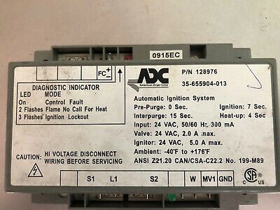American Dryer Ignition Box Hsi Module Adc Pn 128976 883849