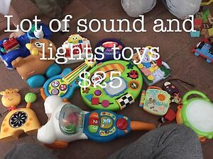 Assorted sound and light toys