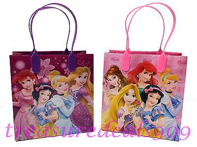 6 PC DISNEY PRINCESS GOODIE BAGS PARTY FAVORS CANDY LOOT TREAT BIRTHDAY BAG CUTE - Disney Princess Goodie Bags
