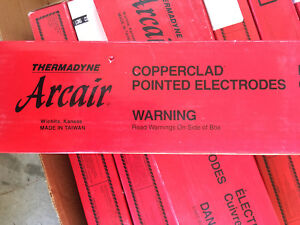 Arcair Copperclad Pointed Electrodes Lot/9 boxes