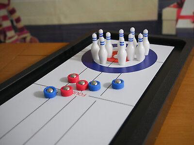 New 3 In 1 Tabletop Games Set Fun Bowling Curling ShuffleBoard Games Xmas