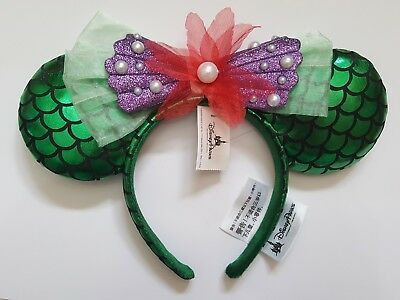 Official Disney Disneyland Paris Ariel Little Mermaid Minnie Mouse Ears Headband - Disney Official Costumes