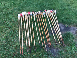 19 quantity - 4 foot tiki torches for burning backyard