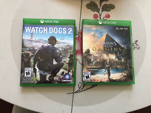 Watch Dogs 2 Assassin's Creed Origins Xbox One.