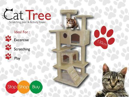 130 CM Cat Tree/Cat scratcher with TOY Auburn Auburn Area Preview