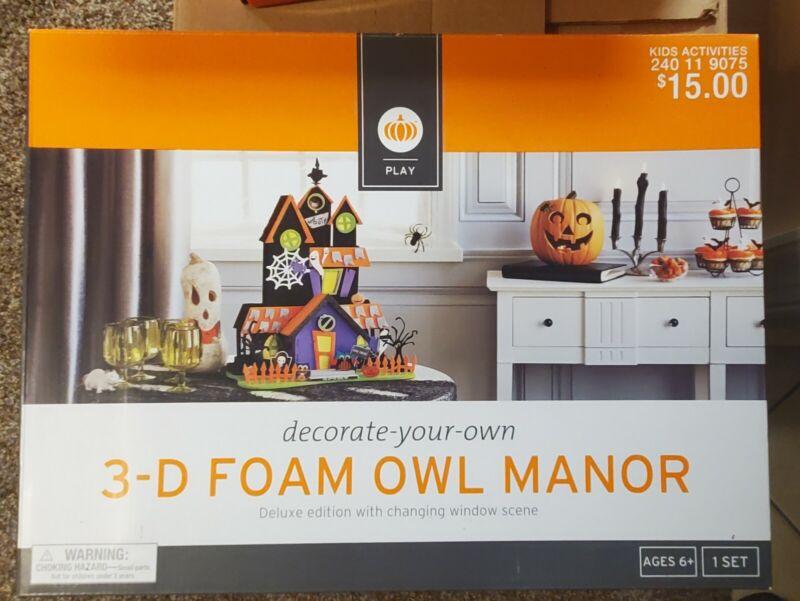 Target 3-D Foam Halloween Owl Manor Kit Deluxe Edition Brand New