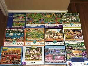 All 1000 piece puzzles. $5 each
