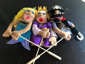 Melissa and Doug Puppets with detachable wooden rod