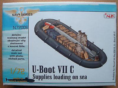 CMK N72006 Schlauchboot mit Torpedo für Revell® Kit U-Boot VIIC in 1:72