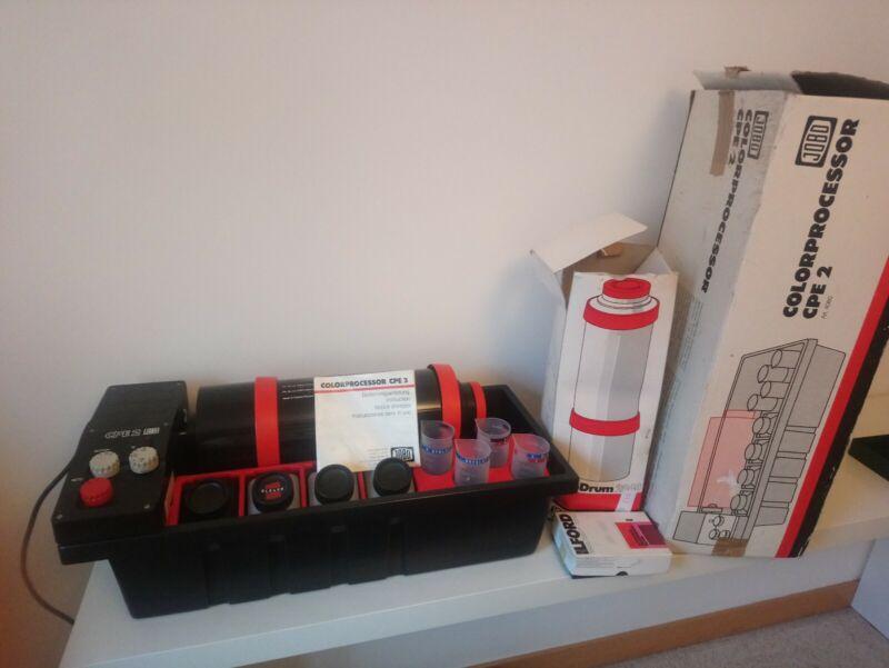 JOBO CPE2 Semi Automatic Film Processor, Boxed JOBO Drum 2840 & Accessories