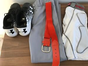 Baseball gear - youth large excellent condition