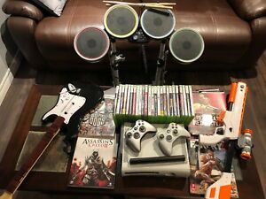 XBox 360 with Rockband, Games, Controllers
