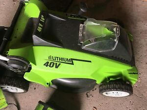 Battery operated electric lawnmower