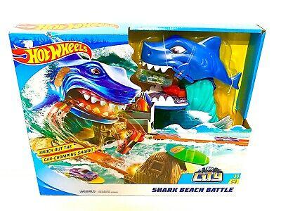 Hot Wheels City Shark Beach Battle Challenge Playset