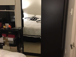 IKEA black wood mirrored wardrobe Darling Point Eastern Suburbs Preview