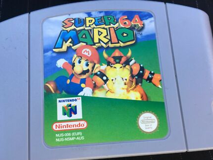 Super Mario 64 - Nintendo Game Cartridge