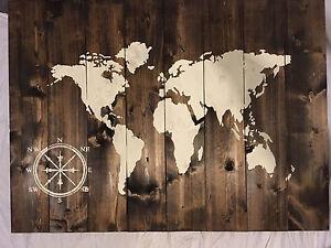 "World Map Wall Decor 42""x32"" Cambridge Kitchener Area image 3"