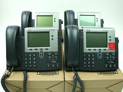 Cisco Cp-7940 7942 Series Unified Ip Business Voip Phone Telephones Lot Of 4