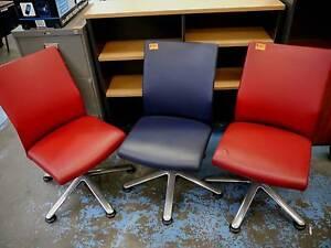 Schiavello Ottina Leather Office Desk Chairs Home Study Seats Melbourne CBD Melbourne City Preview