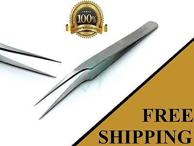 SWISS JEWELER STYLE SUTURE REMOVAL FORCEPS #8 SMOOTH FINE POINT TWEEZERS 4.5