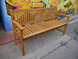 New Timber Lucca Bench Seat Garden Wooden Outdoor Furniture Melbourne CBD Melbourne City Preview